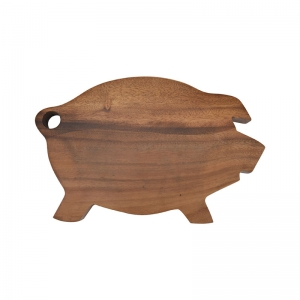 Acacia Wood Pig Shaped Chopping Board, Imported