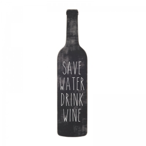 "MDF ""Save Water Drink Wine"" Wall Décor"