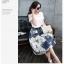 แฟชั่นเกาหลี Set เสื้อ และกระโปรง พร้อมเข็มขัดสีดำ เหมือนแบบ thumbnail 8