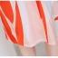 ชุดเดรสแฟชั่น ผ้าคอตตอนทอ โทนสีส้มแดง แขนกุด คอวี เดรสเข้ารูปช่วงเอว thumbnail 9