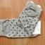 A018**พร้อมส่ง** (ปลีก+ส่ง)ถุงเท้าแฟชั่นเกาหลี โบว์ลายจุด ข้อสั้น มี 8 สี ดำ เทา ฟ้า แดง ม่วง เหลือง ชมพู ขาว เนื้อดี งานนำเข้า (Made in Korea) thumbnail 11