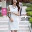 ชุดเดรสเกาหลี ชุดเดรสสั้น ผ้าถักลายวงกลม แขนกุด ทรงตรง เอวเข้ารูป มีซับใน สวยมากๆ thumbnail 1