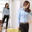 เสื้อทำงาน แฟชั่นเกาหลี สีฟ้า เสื้อเชิ๊ตทำงาน ผ้าชีฟอง แขนยาว คอปก กระดุมหน้า เหมาะกับสาวทำงานออฟฟิศ สวยมากๆครับ (พร้อมส่ง) thumbnail 4