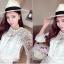 แฟชั่นเกาหลีสวยๆ set เสื้อ และกระโปรงผ้าลูกไม้ถักโครเชต์ สีขาว สวยมากๆ thumbnail 6
