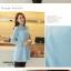 ชุดเดรสสั้น Brand Bluearly แท้ 100% ชุดเดรสออกงาน ผ้าฝ้ายอย่างดี คอปกโปโลพิมพ์ลายสีฟ้า แขนยาว thumbnail 3