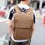 Pre-order กระเป๋าเป้สะพายหลัง มีช่องใส่คอมพิวเตอร์ ผู้ชายแฟขั่นเกาหลี รหัส Man-9367 รุ่นผ้าใบ สีกาแฟ thumbnail 1