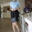 เสื้อทำงาน แฟชั่นเกาหลี เสื้อทำงานสีฟ้า เสื้อเชิ๊ตทำงาน ผ้าชีฟอง คอปก แขนสั้น กระดุมหน้า เหมาะกับสาวทำงานออฟฟิศ สวยมากๆครับ (พร้อมส่ง) thumbnail 1