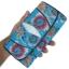 กระเป๋าสตางค์ปลากระเบน แบบ 3 พับ เม็ดใหญ่ ดอกไม้และผีเสื้อ หลากสีสัน Line id : 0853457150 thumbnail 2