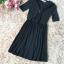 ชุดเดรสสีดำ ตัวเสื้อผ้าโพลีเอสเตอร์ผสม spandex ยืดหยุ่นได้ดี สีดำ thumbnail 7