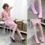 A046**พร้อมส่ง** (ปลีก+ส่ง)ถุงเท้าแฟชั่นเกาหลี ข้อยาว มี 10 สี เนื้อดี งานนำเข้า(Made in Korea) thumbnail 6