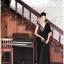 ชุดราตรียาว แขนกุด Brand Luyangel แบรนด์แท้เกาหลี คอวี สีดำ ด้านหลังผ่าลึกรูปตัววี โชว์แผ่นหลัง สวยดูมีสเน่ห์มากๆ ครับ thumbnail 3