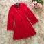 ชุดเดรสสีแดง ผ้าโพลีเอสเตอร์ผสม แขนยาว ดีไซน์เก๋ที่ปลายแขนเสื้อ thumbnail 10