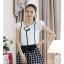 เสื้อผ้าแฟชั่น set 2 ชิ้น เสื้อ+กางเกง และเข็มกลัดดอกไม้ แฟชั่นเกาหลีสวยๆ ครับ thumbnail 1