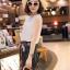 แฟชั่นเกาหลี set เสื้อและกางเกงสุดเก๋ สวยมากๆ thumbnail 4