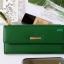 พร้อมส่ง รหัส L355-15 สีเขียวเข้ม กระเป๋าสตางค์ยาว Forever-young แท้ แต่งป้ายแบรนด์โลหะฉลุ thumbnail 2