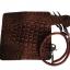 Pretty Genuine CowHide Leather in Pattern Of Crocodile Skin กระเป๋าทรงยาวอัดลายเป็นหนังจระเข้ดูเสมือนจริง80% thumbnail 3