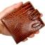 กระเป๋าหนังวัวแท้ อัดลายจรเข้น้ำตาลเข้ม สัมภัสนุ่มมือ ดีไซน์ หรูหรา thumbnail 4
