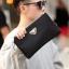 Pre-order กระเป๋าคลัทซ์ ผ้าไนลอน ใส่โทรศัพท์ 8 นิ้ว พร้อมสายคล้องมือ ผู้ชายแฟขั่นเกาหลี รหัส Man-SZB-1 สีดำ thumbnail 1