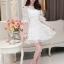 ชุดเดรสสวยๆ ผ้าไหมแก้ว สีขาว ปักลายดอกไม้สวยมากๆ thumbnail 7