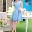 ชุดเดรส ชุดเดรสเจ้าหญิง แสนหวาน ตัวชุดผ้าลูกไม้สีฟ้า คอเสื้อเสื้อหยัก แต่งผ้าถ่วงคลุมไหล่และแขน สวยมากๆ thumbnail 9