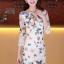 ชุดเดรส ชุดแซกเกาหลี Brand Clothing Beauty เดรสผ้าลูกไม้หนา สีขาว ลายผีเสื้อ มีซิบด้านข้างลำตัว และซิบที่คอเสื้อด้านหลัง แขนสามส่วน สวยมากๆครับ (พร้อมส่ง) thumbnail 1