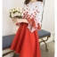 เสื้อผ้าแฟชั่นเกาหลี set 2 ชิ้น เสื้อและกระโปรงสวยมากๆ thumbnail 3