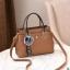 พร้อมส่ง กระเป๋าถือและสะพายข้างผู้หญิง แฟชั่นเกาหลี รหัส Yi-7103 สีกากีเข้ม 1 ใบ*แถมจี้ป๋อม thumbnail 1