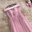 ชุดราตรียาว ใส่ออกงานสุดหรู ตัวชุดเป็นผ้าคอตตอตทอผสม เนื้อดีมากๆ สีชมพูกะปิ thumbnail 8