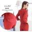 เสื้อผ้าแฟชั่น set 2 ชิ้น เสื้อ และกางเกง สีแดงเลือดหมู thumbnail 8
