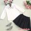 แฟชั่นเกาหลี set เสื้อ และกระโปรงดีไซน์สวยมากๆ thumbnail 9