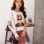 แฟชั่นเกาหลีราคาถูก set เสื้อ และ กระโปรง thumbnail 1