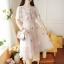เดรสออกงาน สีชมพูโอรส เดรสผ้าโปร่งปักลายดอกไม้ งานปักสวยละเอียดมากๆ ตัวเสื้อด้านในแขนกุด thumbnail 2