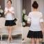 เสื้อชีฟอง สีขาว แฟชั่นเกาหลีใส่สบายตัวมากๆ thumbnail 4