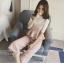 แฟชั่นเกาหลี set เสื้อและกางเกงสุดสวย ผ้าเนื้อนิ่ม ยืดหยุ่นได้ ทิ้งตัวสวยมากๆ thumbnail 1