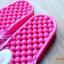 K011-DPK **พร้อมส่ง** (ปลีก+ส่ง) รองเท้านวดสปา เพื่อสุขภาพ ปุ่มเล็ก ลายกระต่าย สีชมพู thumbnail 5