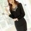 เสื้อทำงาน แขนยาว แฟชั่นเกาหลี ผ้าชีฟอง ปักดิ้นที่คอ สีดำ ใส่สบายสวยมากๆ (พร้อมส่ง) thumbnail 1