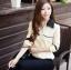 เสื้อทำงาน เสื้อแฟชั่น เสื้อเกาหลี เสื้อแขนยาว คอปก กระดุมหน้า กระเป๋าหน้า เสื้อสีครีม สวยมากๆ (พร้อมส่ง) thumbnail 4