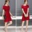 ชุดเดรสสวยๆ ตัวเสื้อผ้าลูกไม้เนื้อดี ยืดหยุ่นได้ สีแดง ดีไซน์เก๋มากๆ thumbnail 7