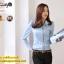 เสื้อทำงาน แฟชั่นเกาหลี สีฟ้า เสื้อเชิ๊ตทำงาน ผ้าชีฟอง แขนยาว คอปก กระดุมหน้า เหมาะกับสาวทำงานออฟฟิศ สวยมากๆครับ (พร้อมส่ง) thumbnail 1