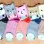S027**พร้อมส่ง** (ปลีก+ส่ง)ถุงเท้าแฟชั่นเกาหลี ลายหมี ข้อสูง มีหู มี 5 สี (ดำ น้ำเงิน แดง เหลือง ม่วง)เนื้อดี งานนำเข้า ( Made in China) thumbnail 7