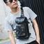 Pre-order กระเป๋าหนังคาดอกสะพายไหล่ แฟชั่นเกาหลี รหัส Man-9883 สีดำ thumbnail 1