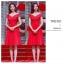 ชุดเดรสสีแดง ผ้าโพลีเอสเตอร์ผสม ไหล่ป้าน ปิดช่วงต้นแขน เข้ารูปช่วงเอว thumbnail 3