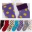 S043**พร้อมส่ง** (ปลีก+ส่ง) ถุงเท้าแฟชั่นเกาหลี ลายจุด พับข้อ มี 10 สี เนื้อดี งานนำเข้า(Made in china) thumbnail 2