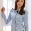 เสื้อทำงาน แฟชั่นเกาหลี สีฟ้า เสื้อเชิ๊ตทำงาน ผ้าชีฟอง แขนยาว คอปก กระดุมหน้า เหมาะกับสาวทำงานออฟฟิศ สวยมากๆครับ (พร้อมส่ง) thumbnail 2