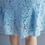 ชุดเดรสสีฟ้า ผ้าลูกไม้เนื้อดี แขนยาว รอบคอเสื้อและปลายแขนเสื้อแต่งด้วยผ้าถักโครเชต์ thumbnail 13