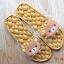K020-ฺฺBR2**พร้อมส่ง** (ปลีก+ส่ง) รองเท้านวดสปา เพื่อสุขภาพ ปุ่มใหญ่สลับเล็ก (การ์ตูน) สีน้ำตาล ลายหมีคุมะ thumbnail 3