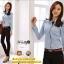เสื้อทำงาน แฟชั่นเกาหลี สีฟ้า เสื้อเชิ๊ตทำงาน ผ้าชีฟอง แขนยาว คอปก กระดุมหน้า เหมาะกับสาวทำงานออฟฟิศ สวยมากๆครับ (พร้อมส่ง) thumbnail 3