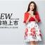 แฟชั่นเกาหลี set เสื้อและกระโปรง สีแดง thumbnail 1