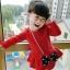 เสื้อผ้าเด็กทารก ราคาส่งจากโรงงาน ชุดเด็กผู้หญิงแขนยาวชุดกระโปรงสั้น อายุ 0-1-2-3 ปี รหัส K339 ชุดกำมะหยี่สีแดง 1 ชุด ไซร์ 70 (ส่วนสูง 59-66 cm ) thumbnail 1