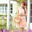 ชุดเดรสสั้น ชุดเดรส Brand YOCO พร้อมส่ง นำเข้าของแท้ 100% ชุดเดรสผ้าชีฟอง+ลูกไม้อย่างดี สีชมพูหวานๆ น่ารัก thumbnail 2
